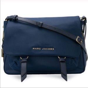 Marc Jacobs Zip That Navy Nylon Messenger Bag